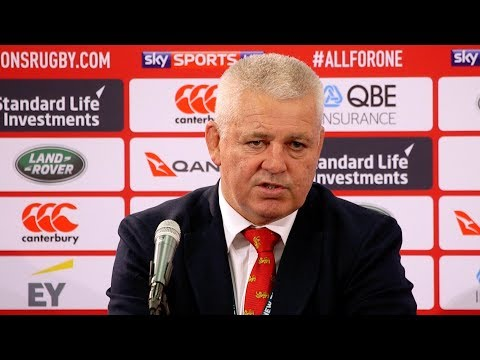 Press Conference: Gatland encouraged by step up in performance | Lions NZ 2017