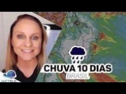 20/09/2021 - Previsão do tempo Brasil - Chuva 10 dias   METSUL