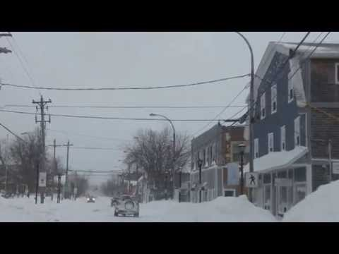 Wolfville, Nova Scotia.  The Day after the February 15, 2015 Storm