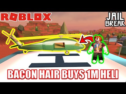 BACON HAIR Buys ARMY HELICOPTER??!!! | Roblox Jailbreak
