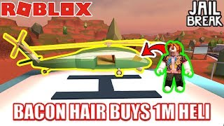 BACON HAIR Buys ARMY HELICOPTER??!!!   Roblox Jailbreak