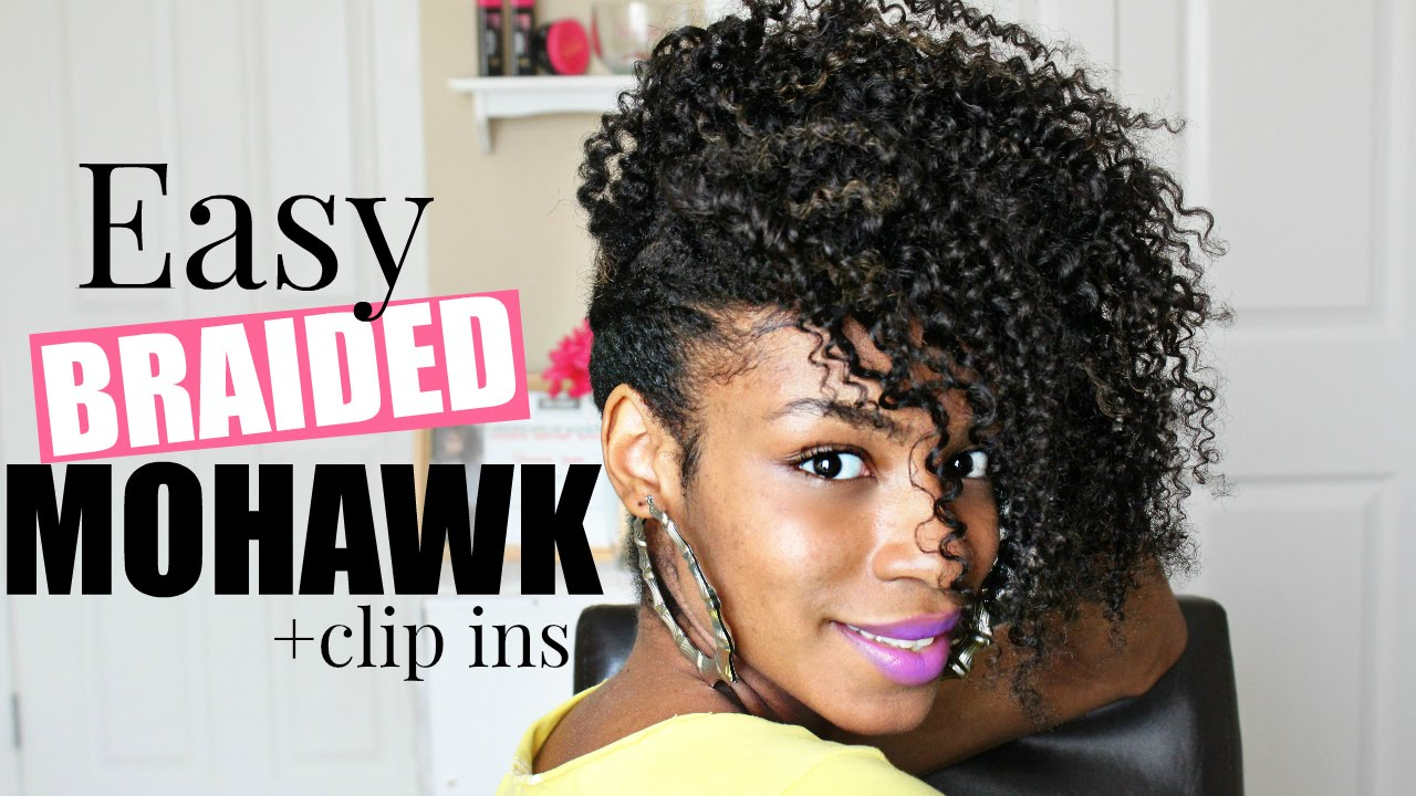 Easy Braided Mohawk Natural Hair - YouTube