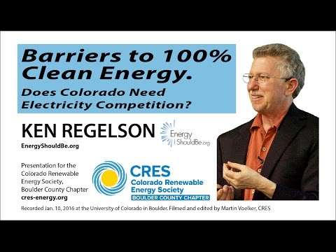 Clean Energy through Open Electricity Markets - Ken Regelson