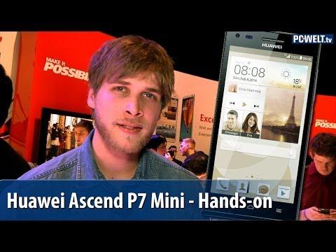 Huawei Ascend P7 Mini / G6 im Hands-on auf dem MWC 2014 | deutsch / german