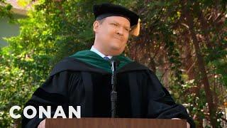 Andy Richter's Inspirational Commencement Speech  - CONAN on TBS