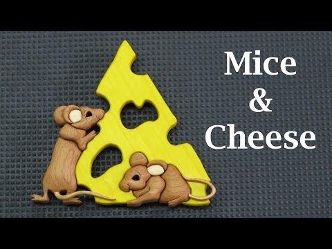 Mice & Cheese Wood Intarsia