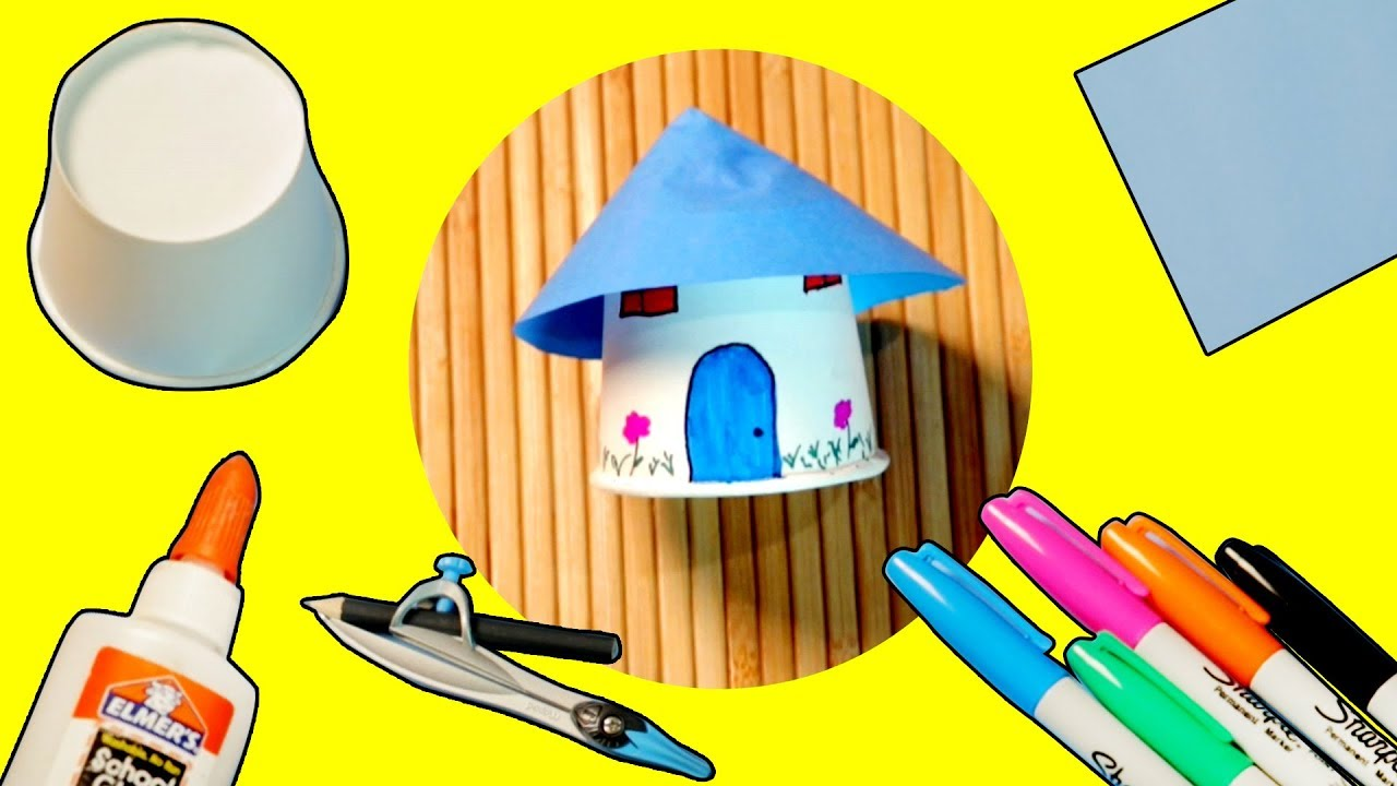 Paper Cup House Craft Ideas Little House Youtube