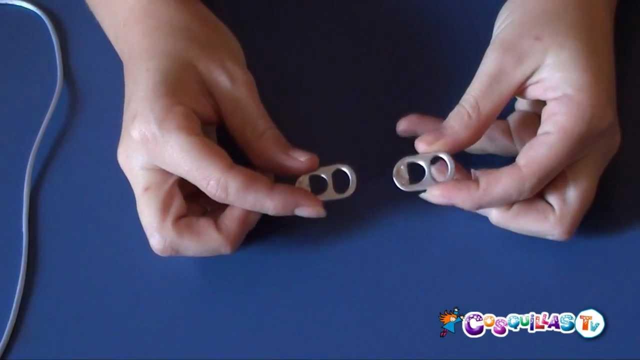 f62c720f3d02 DIY Manualidades  Pulseras con chapas de latas. Reciclaje - YouTube