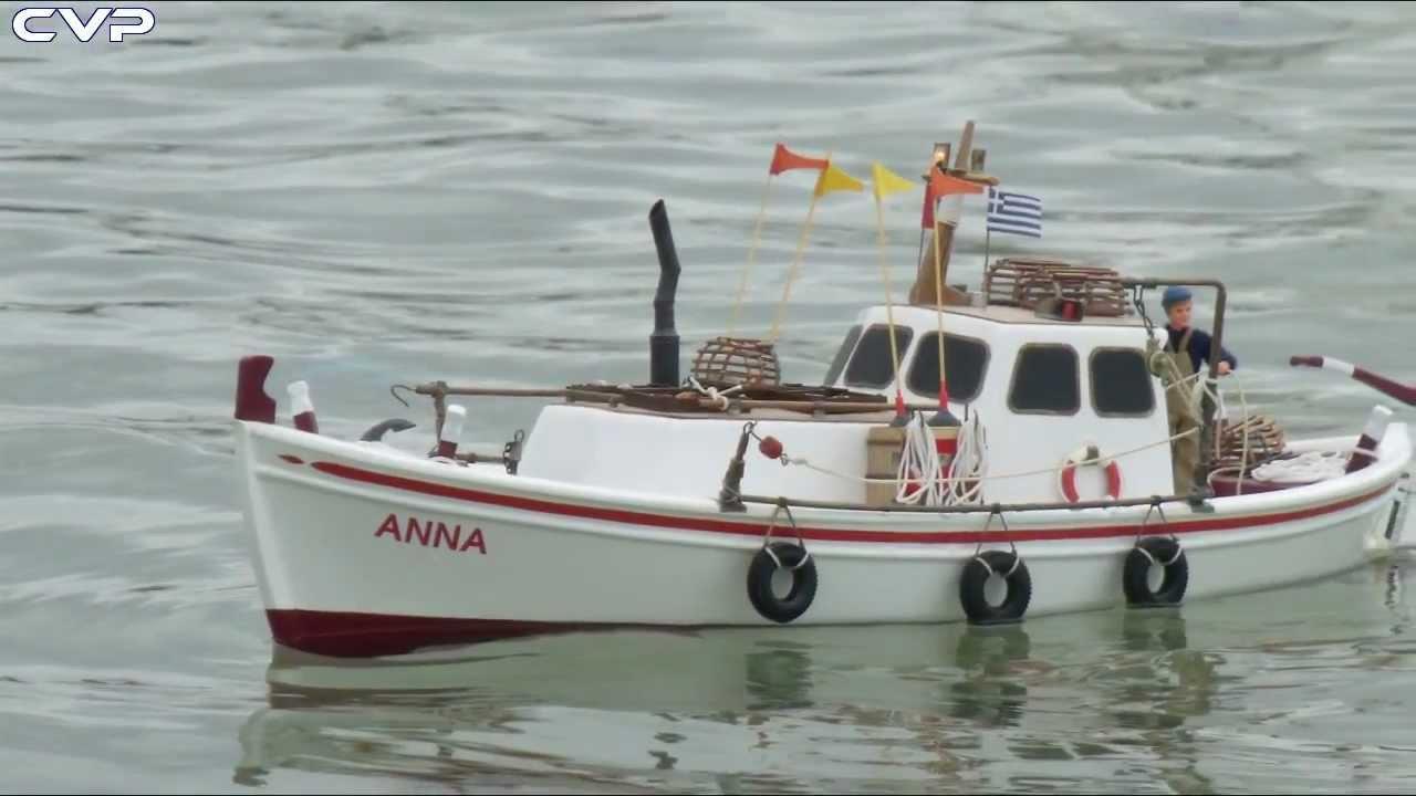 Cvp greek rc traditional lobster fishing boat youtube for Elias v fishing