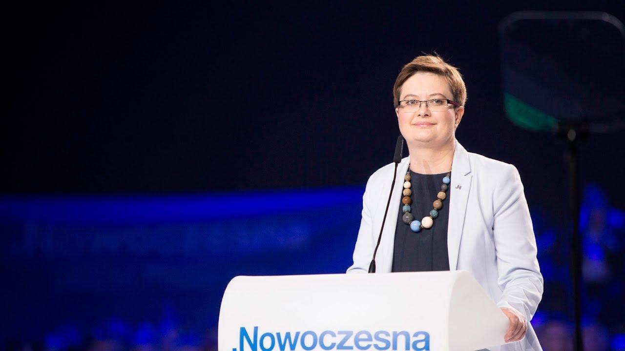 Katarzyna Lubnauer na konwencji Nowoczesnej 21.05.2017