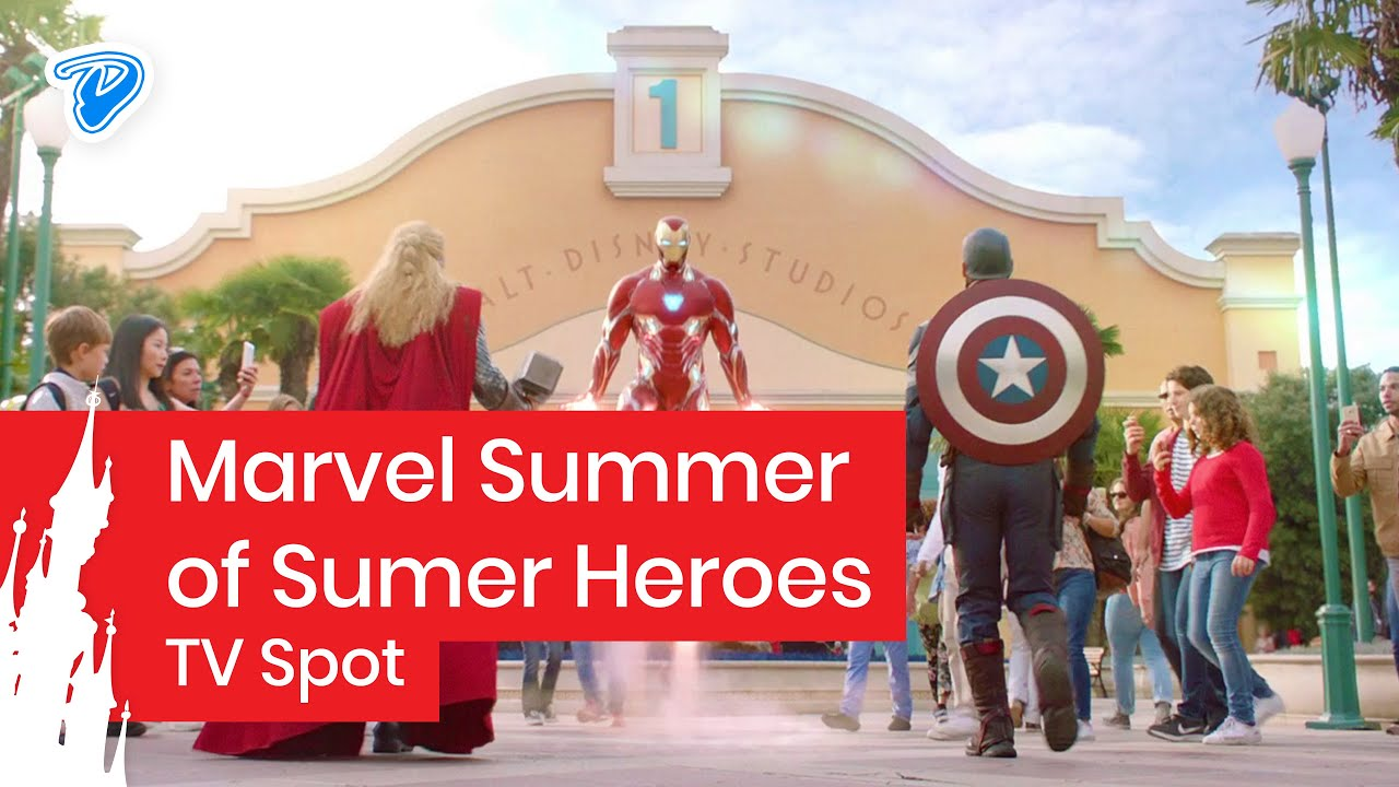 Marvel Summer of Super Heroes at Disneyland Paris - TV Ad Iron Man ...