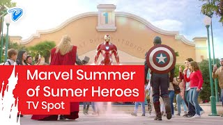 Marvel Summer of Super Heroes at Disneyland Paris - TV Ad Iron Man, Thor, Spider-Man thumbnail