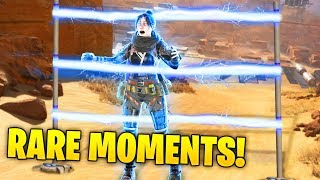 Finding the IMPOSSIBLE Outplay... - 200 IQ Rare Moments - Apex Legends