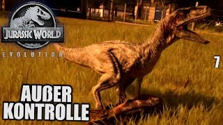 Jurassic World Evolution Deutsch #7 ► Außer Kontrolle! ◄ | Let's Play Gameplay German