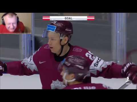 PAPA PETROW hokeja spēles labākie momenti / Petrow celebrate Latvia-Denmark