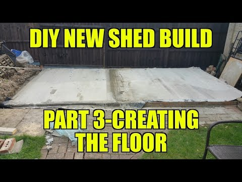 DIY New Shed Build – I need a Concrete floor!