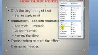 Custom Animation in PowerPoint 2007