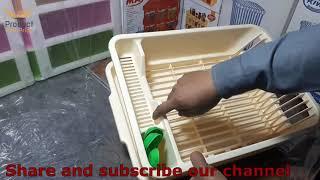 Kitchen Organisation | Dish Drainer Rack | Plastic dish rack quality and reviews | Idrees Crockery