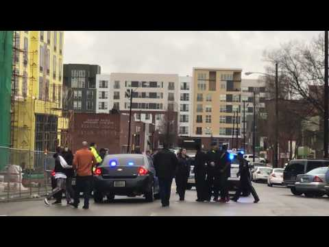 Emotional scene after man is shot and killed in Downtown Birmingham
