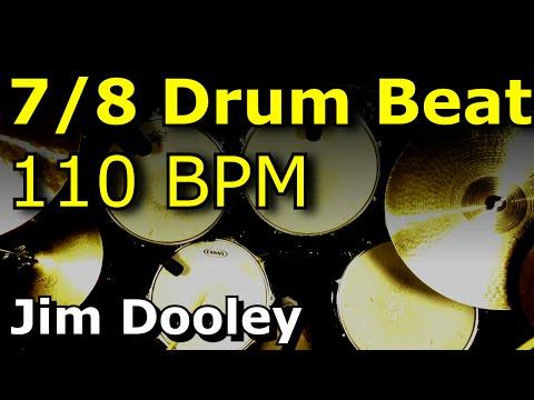Odd Time Drum Beat 7/8 110 BPM - Dooley Drums