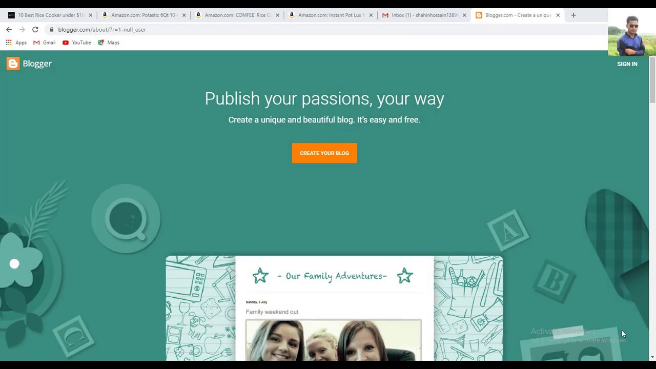 How to Make a Landing Page With Blogger for Life Time | Free Website/blog site | Online School