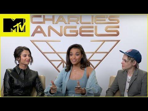 Charlie's Angels Kristen Stewart, Naomi Scott & Ella Balinska Talk Twilight Love | MTV Movies