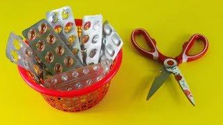 ঔষুধের খালি প্যাকেট দিয়ে অসাম আইডিয়া | Amazing Craft Ideas With Empty Medicine Packets