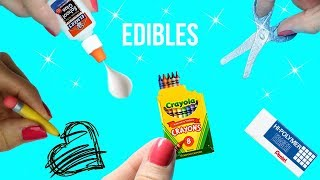 DIY EDIBLE School Supplies {Easy}! 5 MINIATURE Edible DIYs! Cool & Weird Crafts! Miniature How To