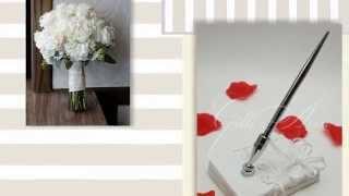 Свадебная ручка с подставкой Gilliann Isabella PEN009