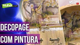 Decoupage com pintura imitando madeira – Rose Rodrigues