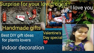 hi thanks for stopping here... this is a amezing gift idea for upcoming valentine's Day special gift making with 5 cutting of easy growing plants like money plants, ...