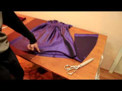 Ремонт одежды. Как выровнять низ платья, простой способ.