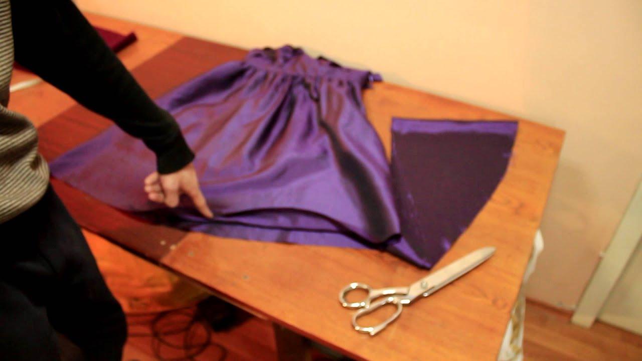 Как обрезать юбку ровно