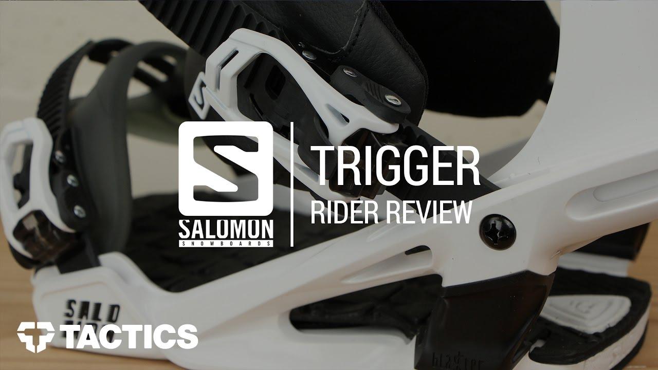 2c68fb1c73f2 Salomon Trigger 2018 Snowboard Binding Review - Tactics.com - YouTube