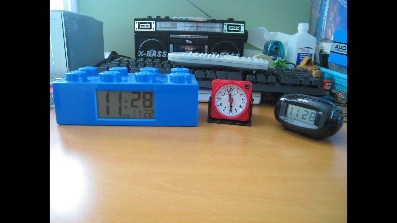 Lego, Jalga, and Sharp Alarm Clocks