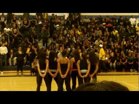 EEVPA (East English Village Preparatory Academy) Pep-rally Dance team. they wasnt ready tho