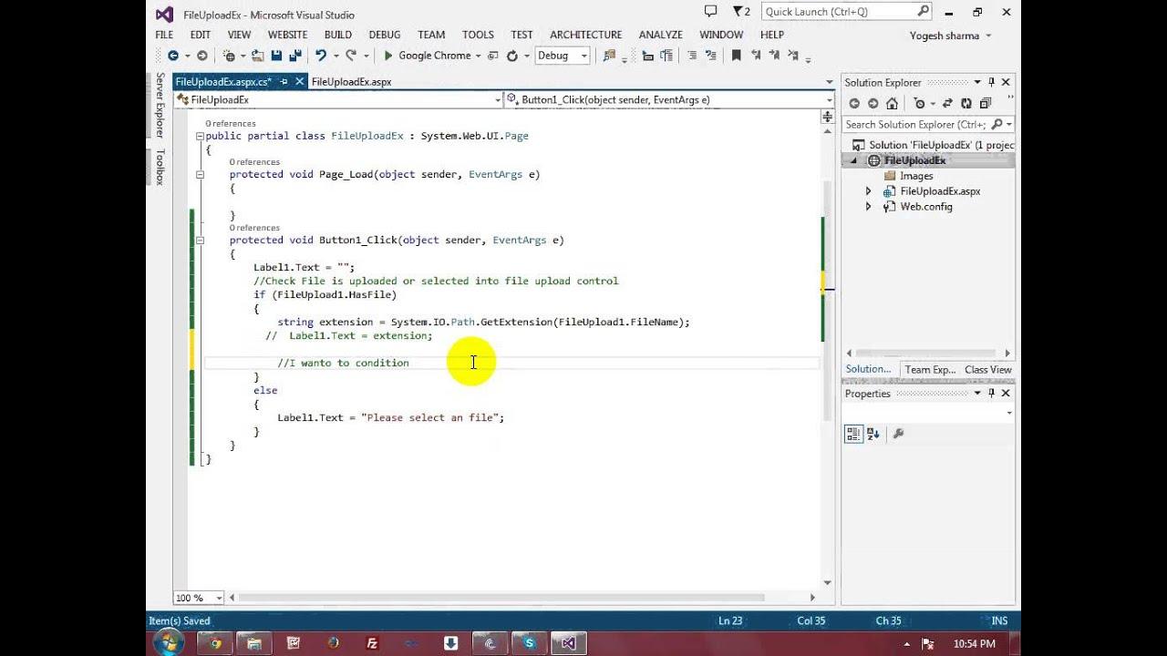 FileUpload Control In ASP NET Web Forms