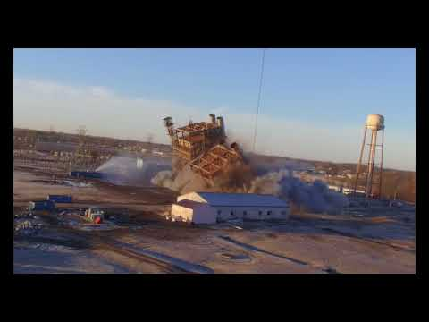 Multi-Angle Recap of Retired Delta Power Plant Implosion