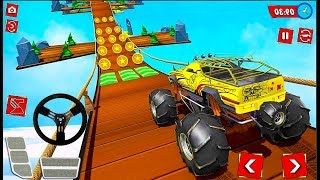 Uphill Monster Truck Mountain Climb Stunt - 4x4 Offroad Simulator Game - Android GamePlay