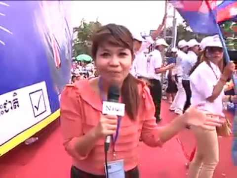 Thai TV take a video CNRP Campaign commune election