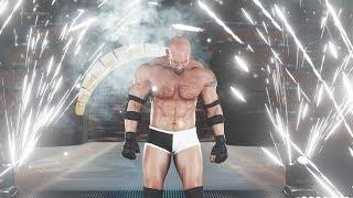 WWE 2k18 - Goldberg vs Brock Lesnar (Championship Match)   Wrestlemania (1080p 60fps)
