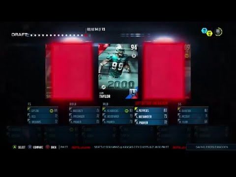 Madden NFL 16 Draft Champions ----- Best Defensive Draft Ever ----- Jason Taylor and Bruce Smith!