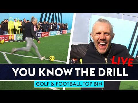Football and Golf Top Bin Challenge!   You Know The Drill LIVE   Bullard, Seaman & Fitzpatrick