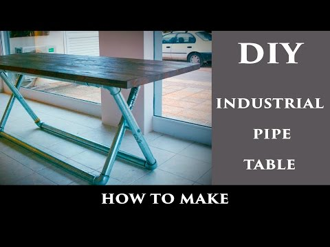 DIY Industrial Pipe Table #1