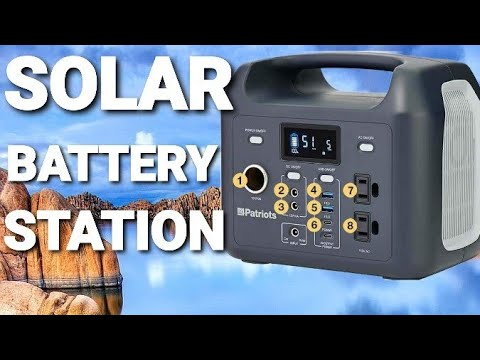 4Patriots – Solar Charger – Rechargeable Battery Power Station