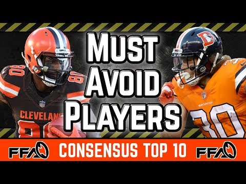 Must AVOID Players | Consensus Top 10 | 2019 Fantasy Football