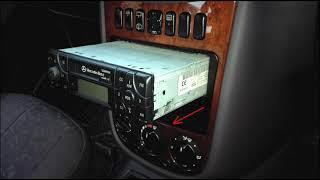 taking out car radio Mercedes-Benz A-clase L W168 MF