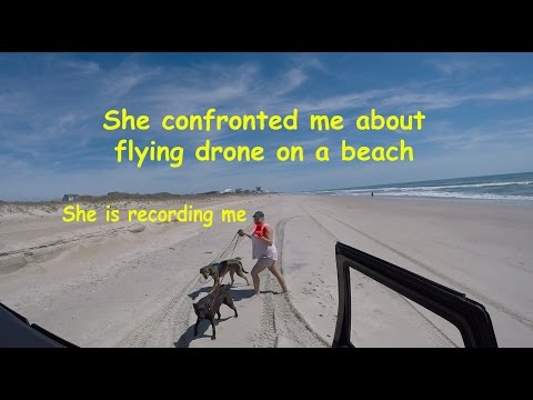 Tourist Confronted Me About Flying Drone On A Beach