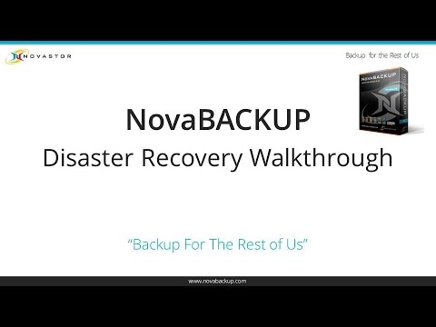 NovaBACKUP Disaster Recovery Walkthrough