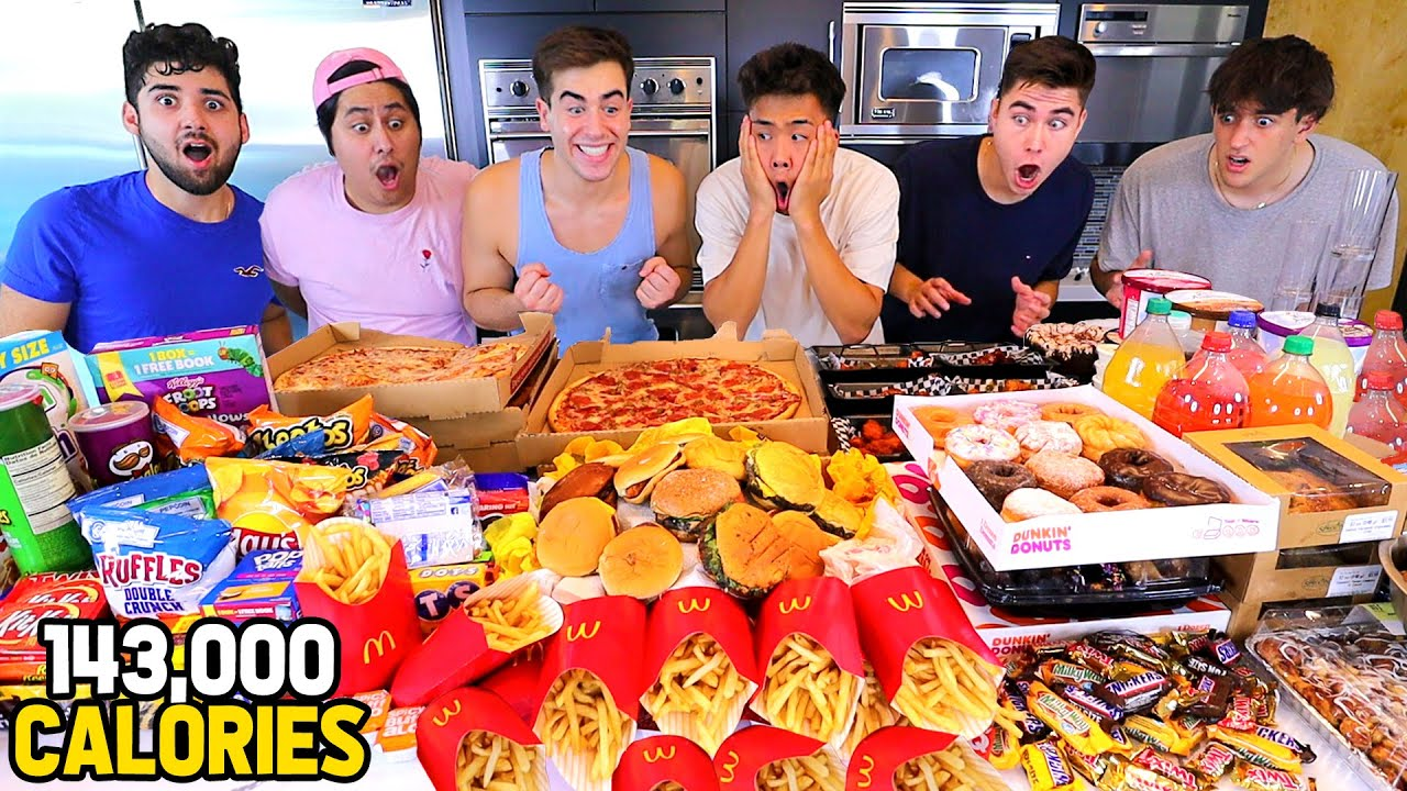 We Attempted To Eat 100,000 Calories! (FOOD CHALLENGE)